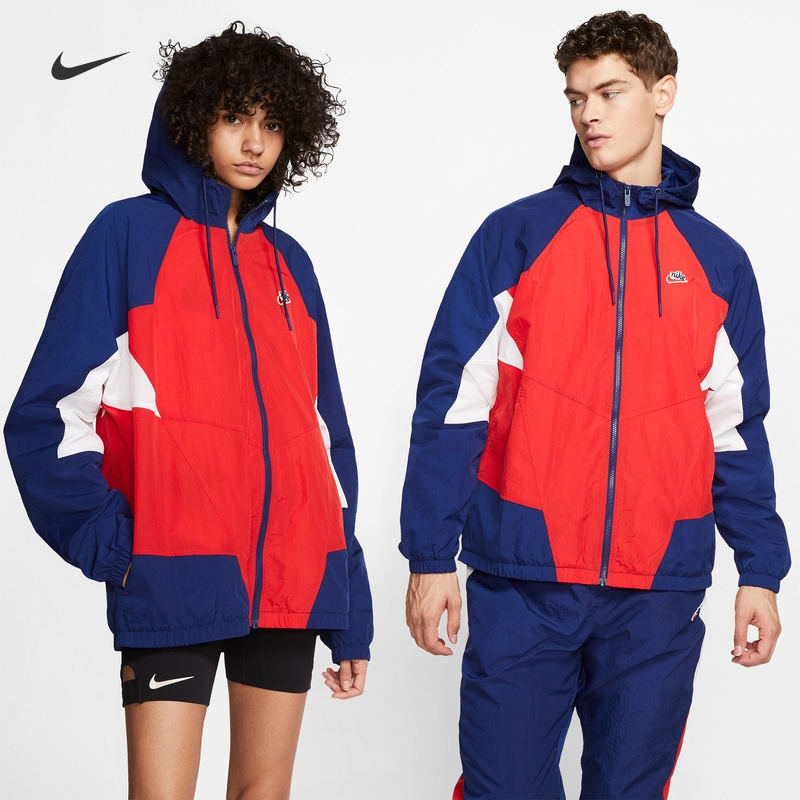 Nike Nike official heritage Windrunner men's woven jacket retro coat cj4359