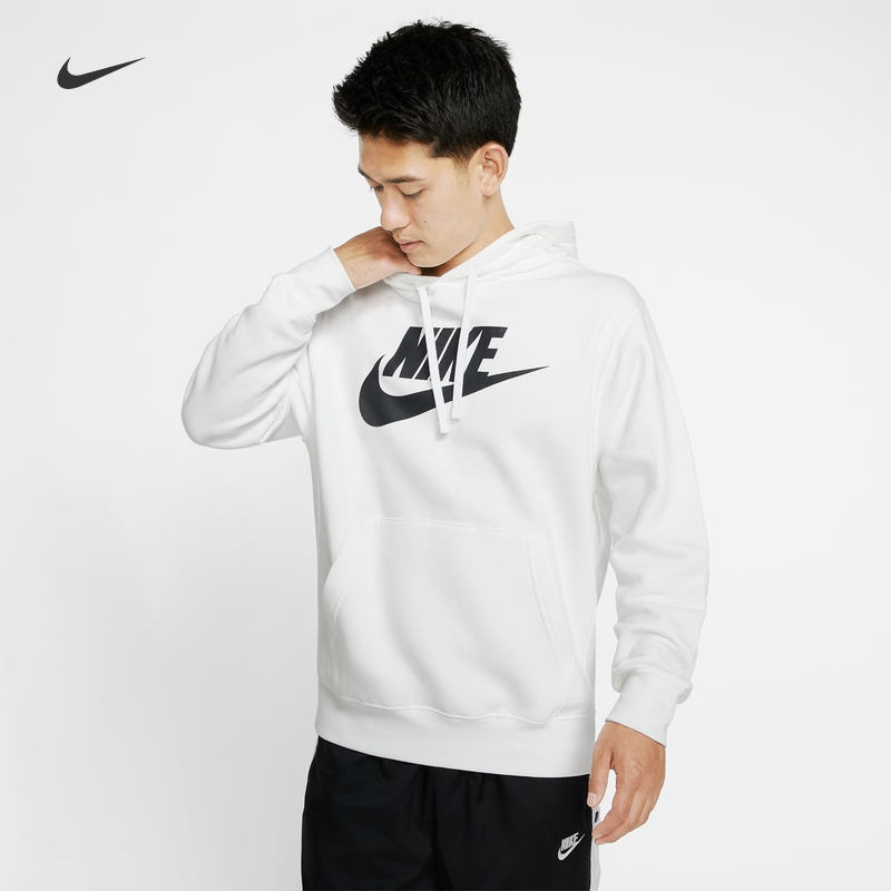 Nike Nike official NSW Club fleece men's printed Pullover Hoodie BODYSUIT bv2974