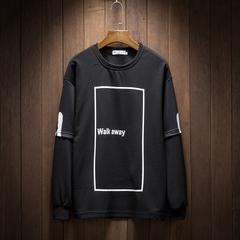 2019春季新款日系修身假两件大码长袖卫衣T恤 T18 P30