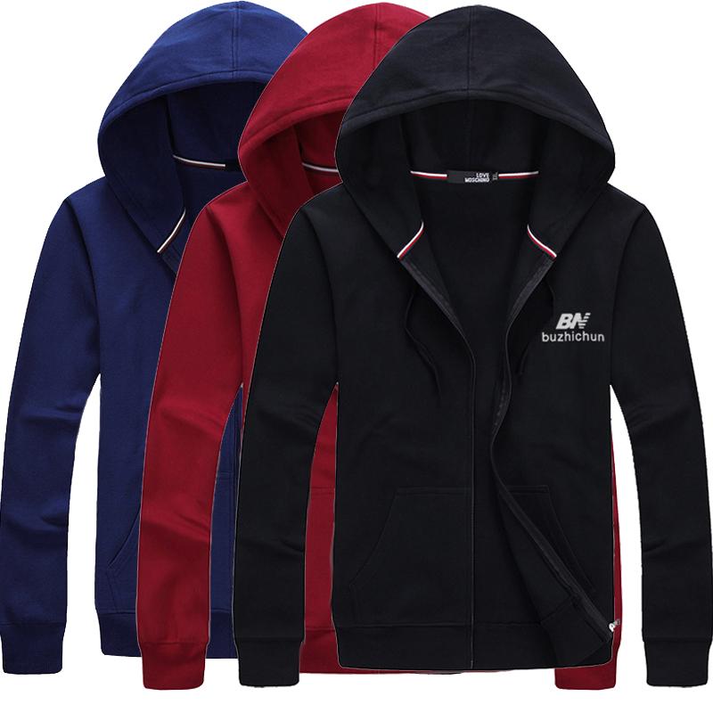 Mens coat spring sweater mens cotton zipper Hoodie loose add fat oversize sports cardigan jacket fashion