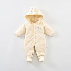 蓓茵儿婴儿连体衣秋冬加厚新生儿衣服哈衣夹棉棉衣包脚冬外出抱衣