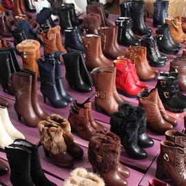 库存清仓皮靴女鞋粗跟高跟平底坡跟女短靴中筒靴过膝靴加绒棉靴子图片