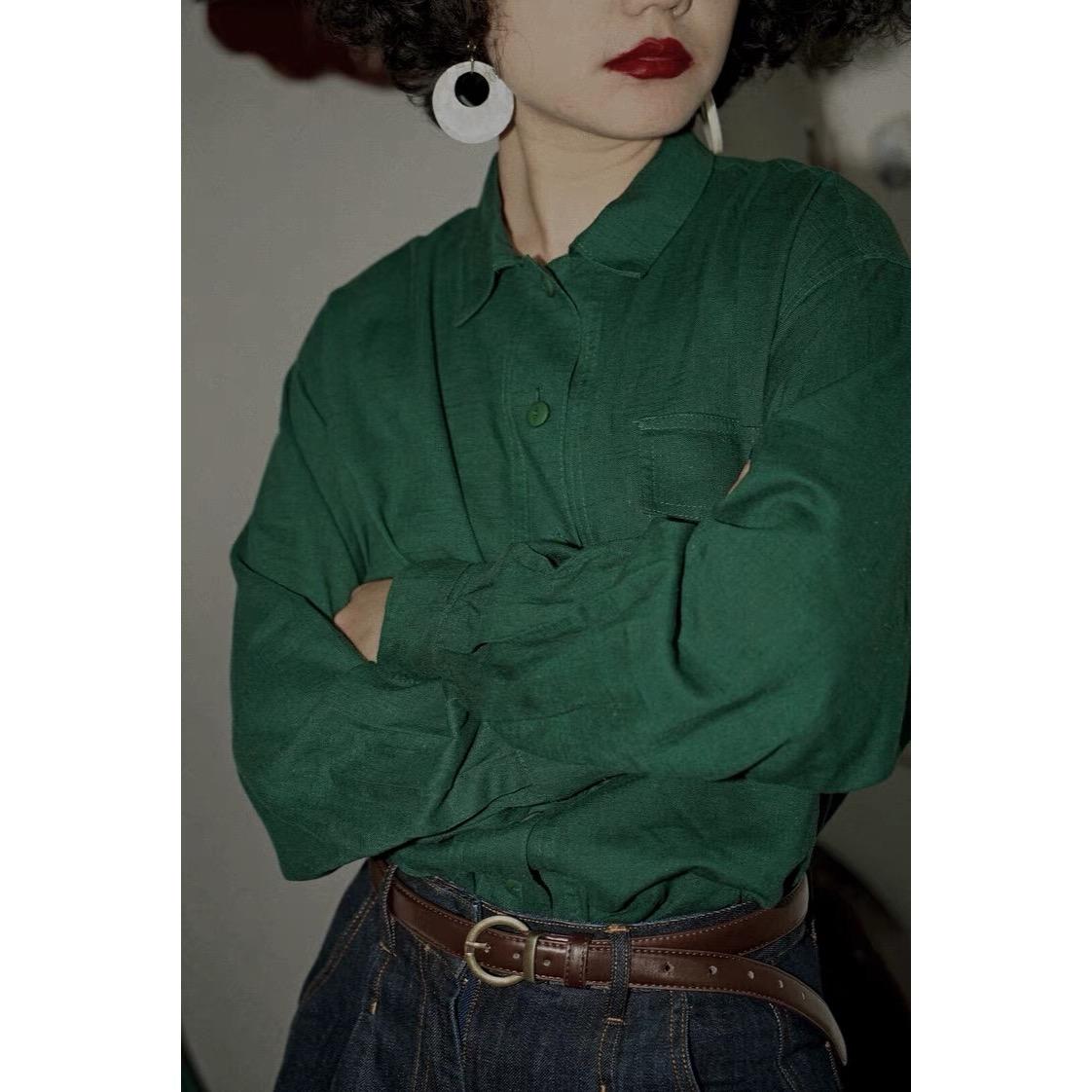 12-06新券化学少女原创复古vintage美式衬衫