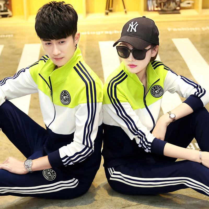 Mens and womens general lovers suit autumn 20 fashion new sportswear cotton sports leisure suit large size group purchase