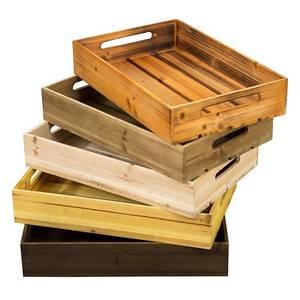 新款复古木箱储物箱定制实木收纳箱橱窗装饰摆件道具超市陈列小木