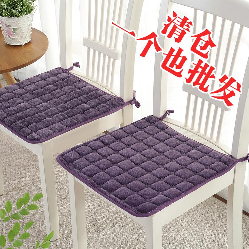 冬天毛绒保暖椅子垫坐垫餐桌椅垫餐椅垫防滑电脑椅垫子带绑带可洗图片