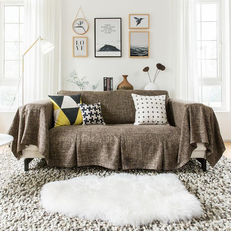 Простой современный диван обложка тканевая нордический диван полотенце полное покрытие диван против суперобложка скольжение крышка диван ткань универсальный