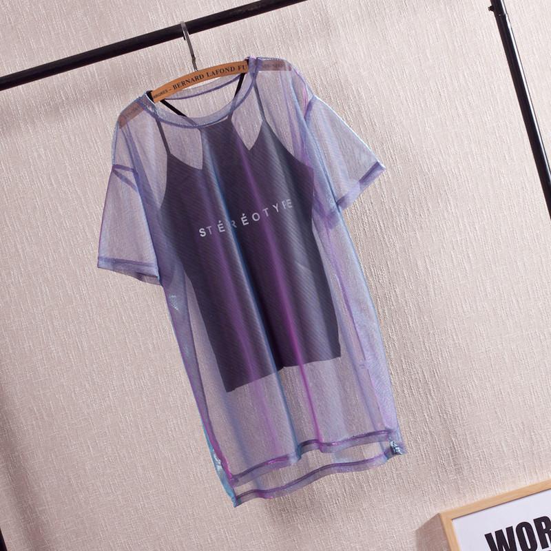 �W�T恤吊��杉�套上衣�n版性感冰�z中�L款女夏季罩衫女��松女�b