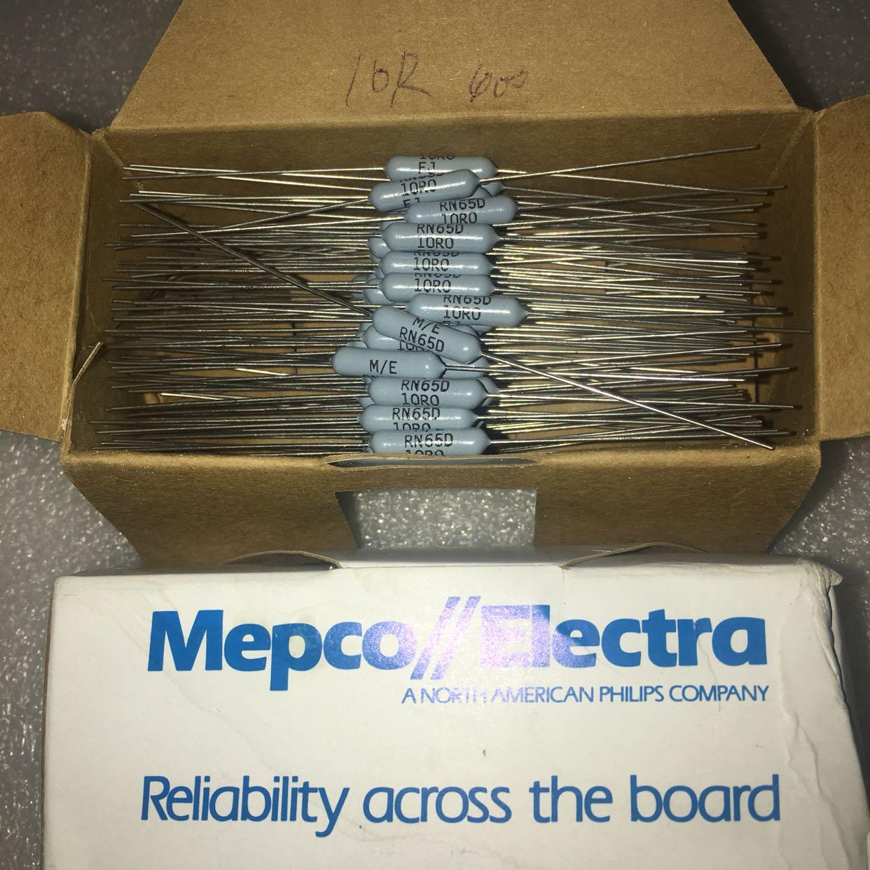 Сша MEPCO 2W 10R 1% RN65 медь ступня металл мембрана лихорадка сопротивление 5*15MM