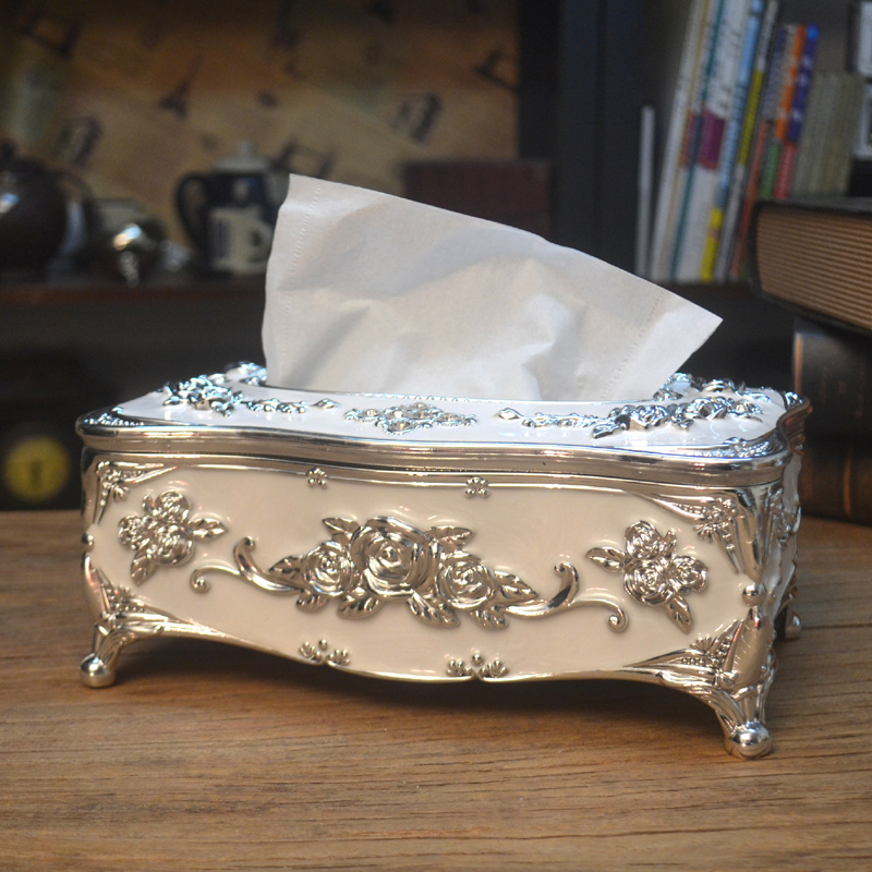 欧式纸巾盒餐巾抽纸筒创意简约家居酒店家用客厅茶几餐厅装饰用品