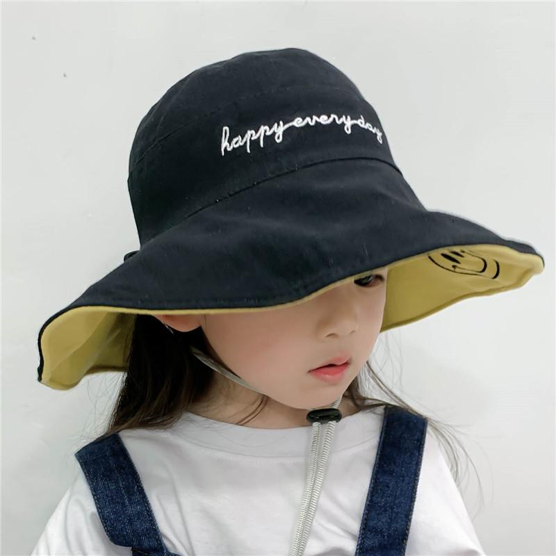 儿童渔夫帽女童夏季双面防晒遮阳帽宝宝太阳帽男潮春秋薄款婴儿帽图片