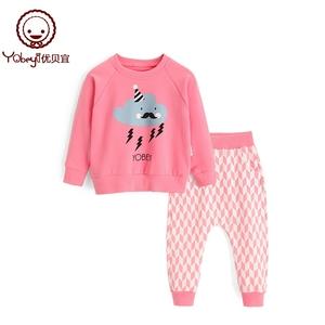 女童春装套装男童儿童卫衣两件套宝宝运动服春季童装男衣服优