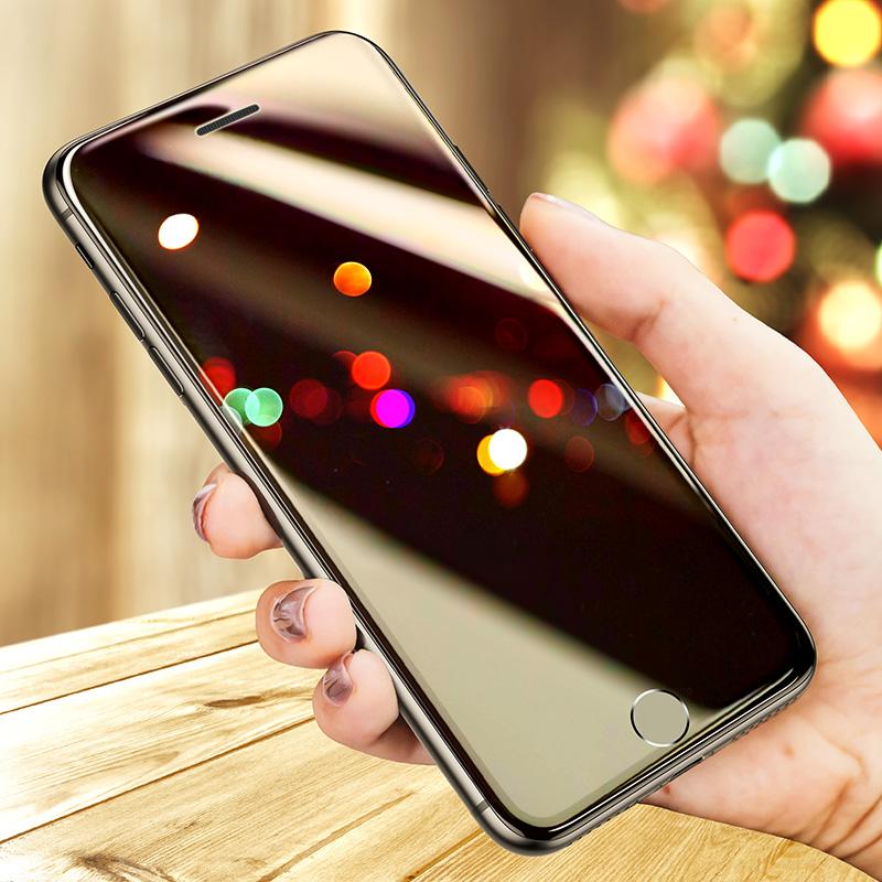 苹果8Plus钢化膜iPhone7全屏覆盖全包ip8P手机贴膜抗蓝光八i8防窥磨砂防爆i7保护防窥膜屏保包边黑防偷窥软边