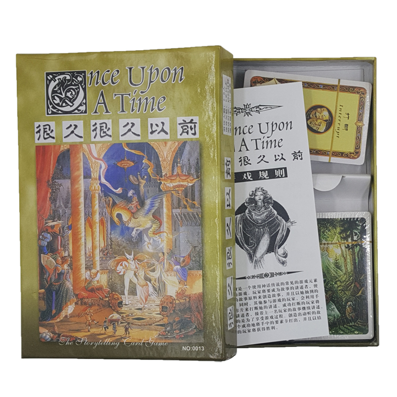 很久很久以前 桌游讲故事once upon a time中文版桌面游戏可塑封