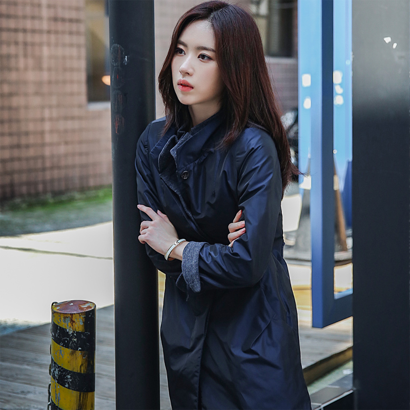 Casual windbreaker womens middle and long autumn waterproof windproof slim fit big coat 2020 spring and Autumn New Korea