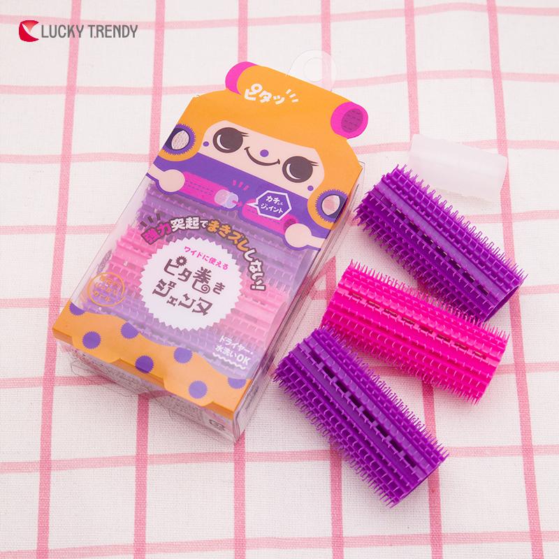 日本LUCKY TRENDY公主发卷可拼接发卷筒定型自粘卷发空气刘海少女