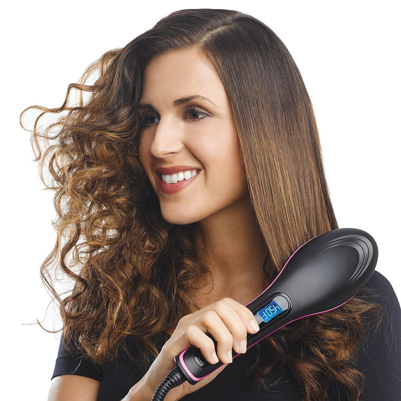 Lebess straight hair comb artifact does not hurt hair natural roll savior straight home straighten internal buckle electric comb