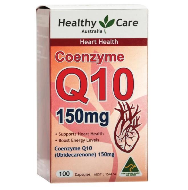 澳洲Healthy Care CO Q10辅酶Q10胶囊150mg100粒心脏健康