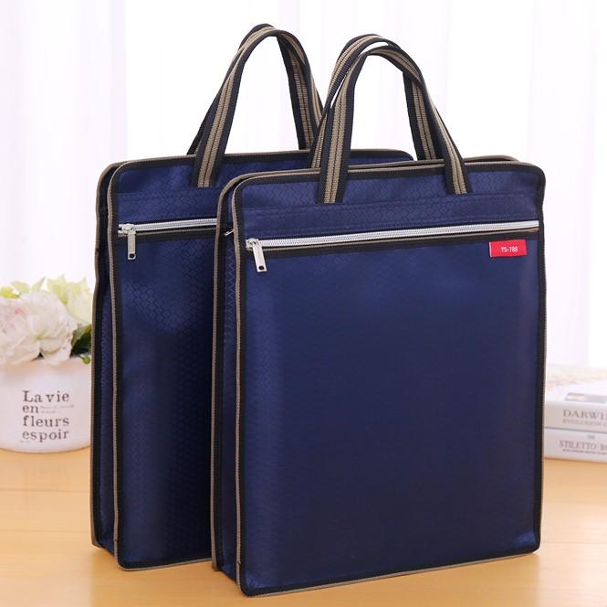 11月25日最新优惠竖式手提袋牛津帆布文件袋学生补习袋A4书本资料袋会议手拎文件包