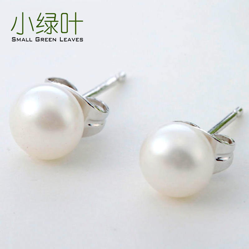 925 sterling silver pearl earrings female small earrings 2020 new trendy silver needle earrings high sense of piercing