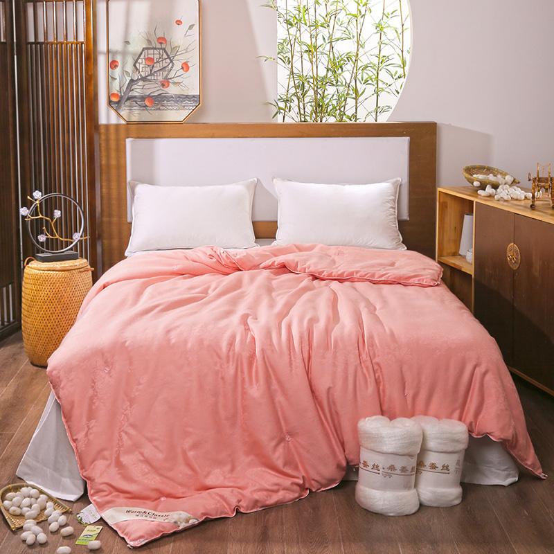 [品牌清仓】全棉蚕丝被100%桑蚕丝春夏秋冬季子母被子6斤8斤正品