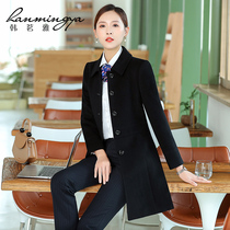 Han Ming ya occupation installed woolen children coat female Winter black long section of the bank work clothes wool coat tooling