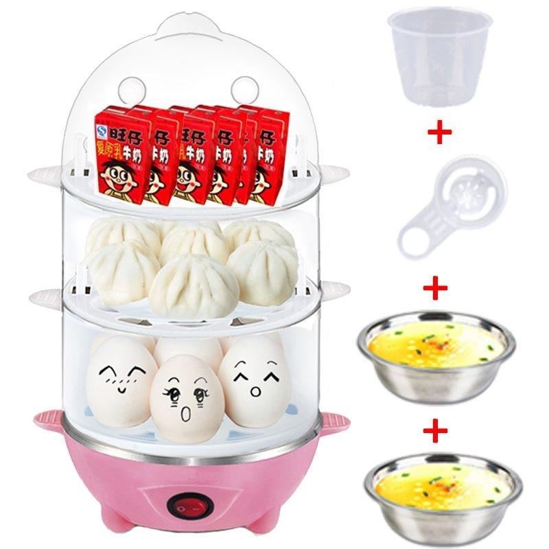 双层厨房电器煮蛋.家用蒸蛋器断电多功能7蛋迷你创意小家电BY