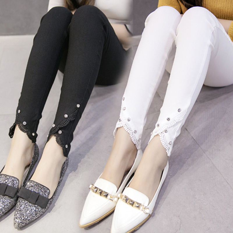 Large size women tight black pants and women wear long nine feet in summer and autumn was thin new thin pencil