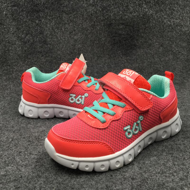 正品361童鞋 女童鞋秋季双网透气运动鞋 软底防滑休闲鞋31-37特价