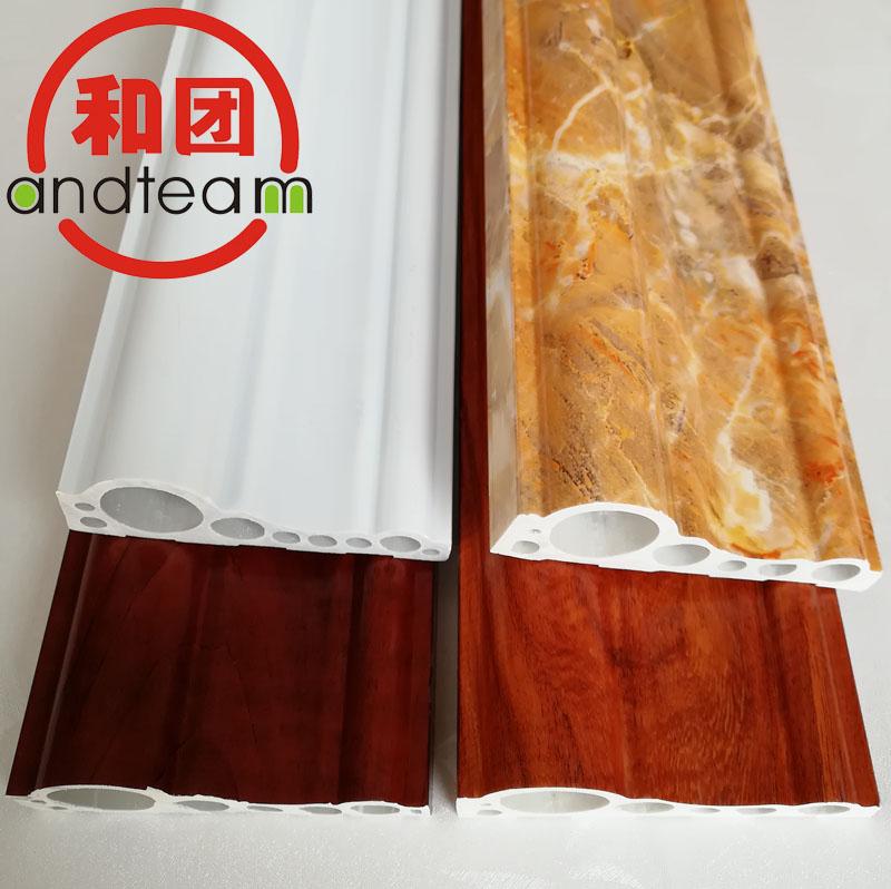 PVC线条石塑线条微发泡线条门套线窗套线电视背景装饰线条PS线条