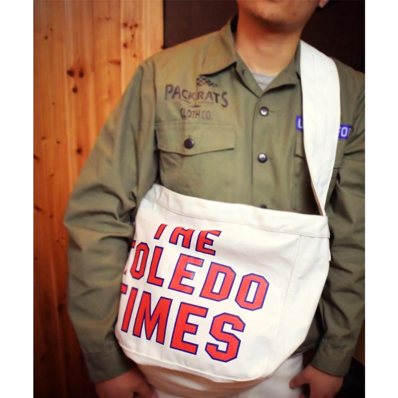 Packrats16ss newspaperbag American retro large capacity canvas single shoulder slant span white bag