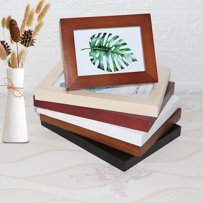 实木相框摆台6 7寸8寸10寸11寸A4挂墙相片架画框桌面摆件像架定制