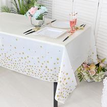 儿童生日派对用品甜品台一次姓桌布塑料长方形装饰布置餐桌布
