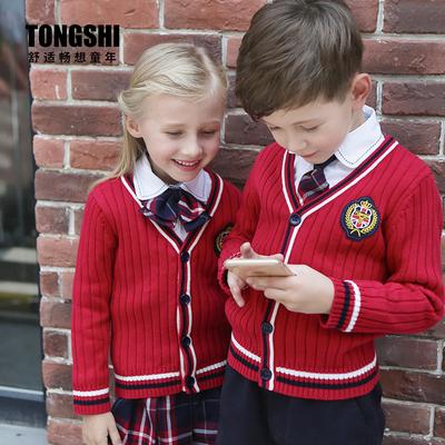 英伦风校服春秋装幼儿园园服中小学生班服套装韩国学院儿童演出服