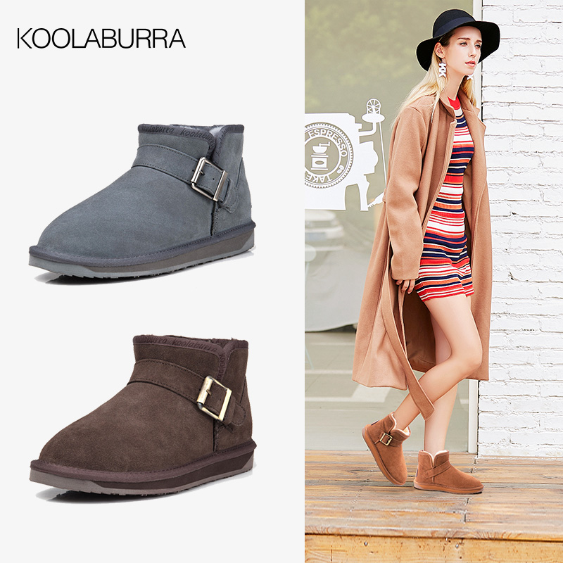 Koolaburra snow boots womens Short Boots Mens and womens pair leather short winter boots winter warm womens Boots