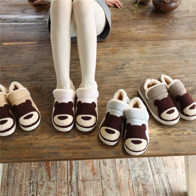 冬季棉拖鞋女情侣家居室内可爱月子鞋软底防滑包跟保暖毛毛拖鞋男