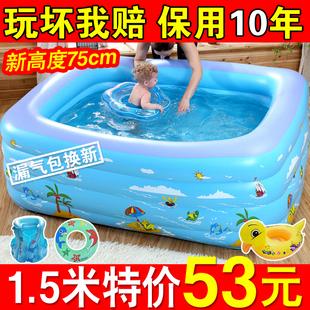 兒童游泳池充氣家庭嬰兒洗澡桶成人家用寶寶加厚小孩超大號戲水池