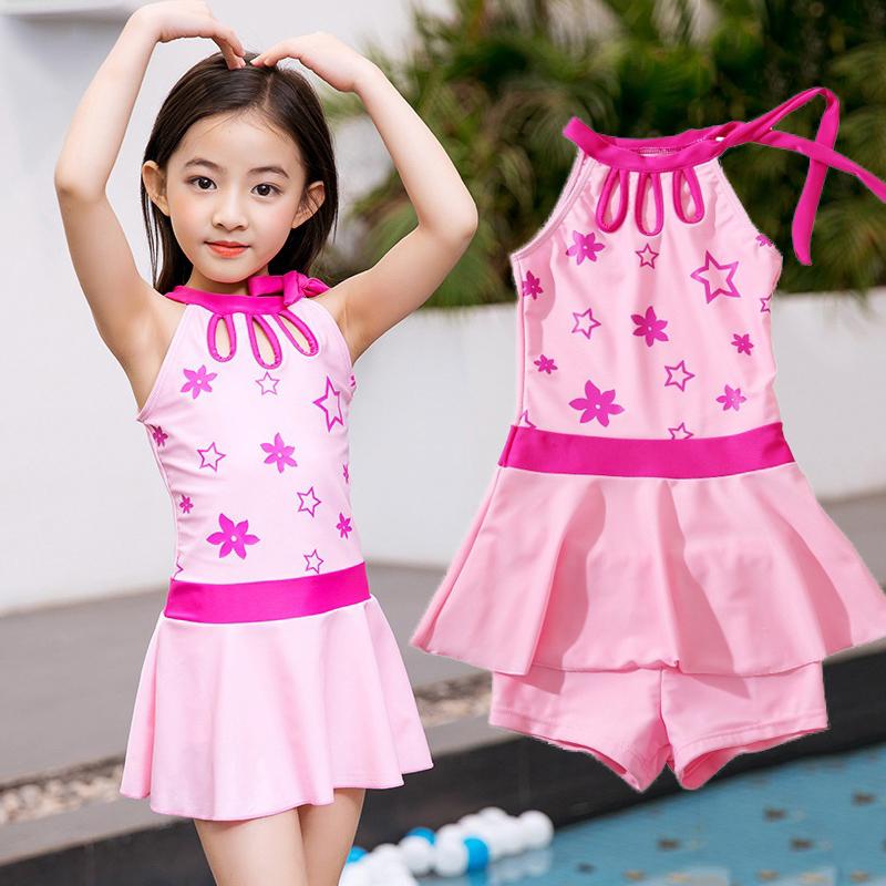 4儿童5女童小孩泳衣6小中童韩版7女孩连体裙式8公主平角裤游泳装