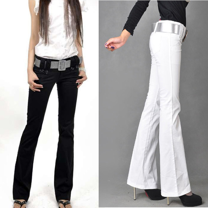 2020 spring womens flared pants new womens pants Korean womens slim casual pants micro flared wide leg pants swing pants