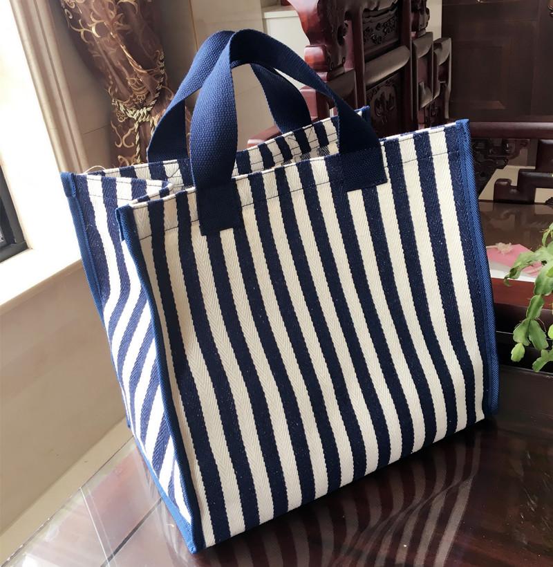 帆布袋大容量环保购物袋学生拎书包防水超市买菜包便携手提袋女包