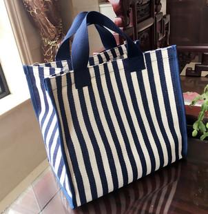 帆布袋大容量环保购物袋学生拎书包防水超市买菜包便携手提袋女包图片