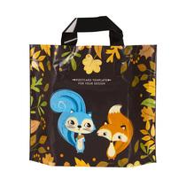 松鼠狐狸服装袋塑料袋手提袋衣服童装袋礼品袋大中小号包装服饰袋