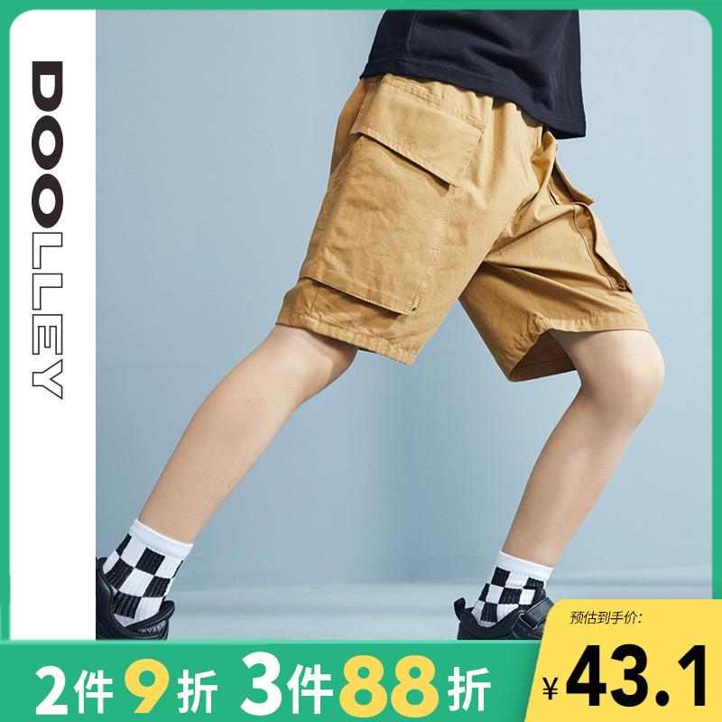 男童裤子夏季薄款儿童工装短裤中大童中裤童装五分裤外穿男孩帅气