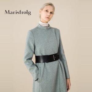 Marisfrolg/玛丝菲尔欧美时尚气质女装羊毛大衣长款外套商场同款