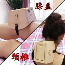 实木颈椎艾灸盒弧形膝盖镭节颈部专用脖子木制随身灸家用温灸木盒