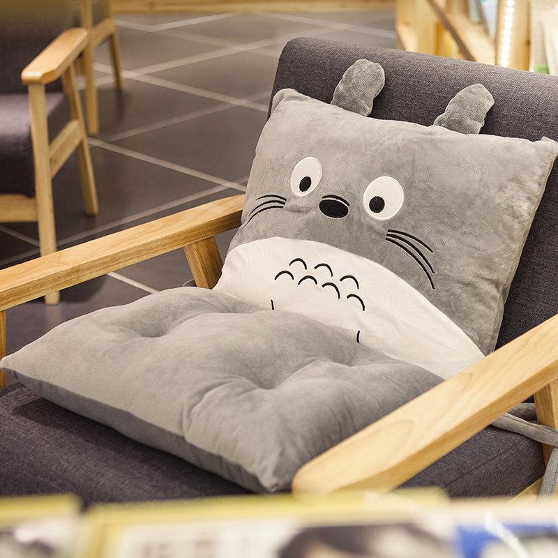 卡通餐桌坐垫椅垫靠垫一体加厚办公室电脑椅暖手抱枕靠枕毛绒冬季