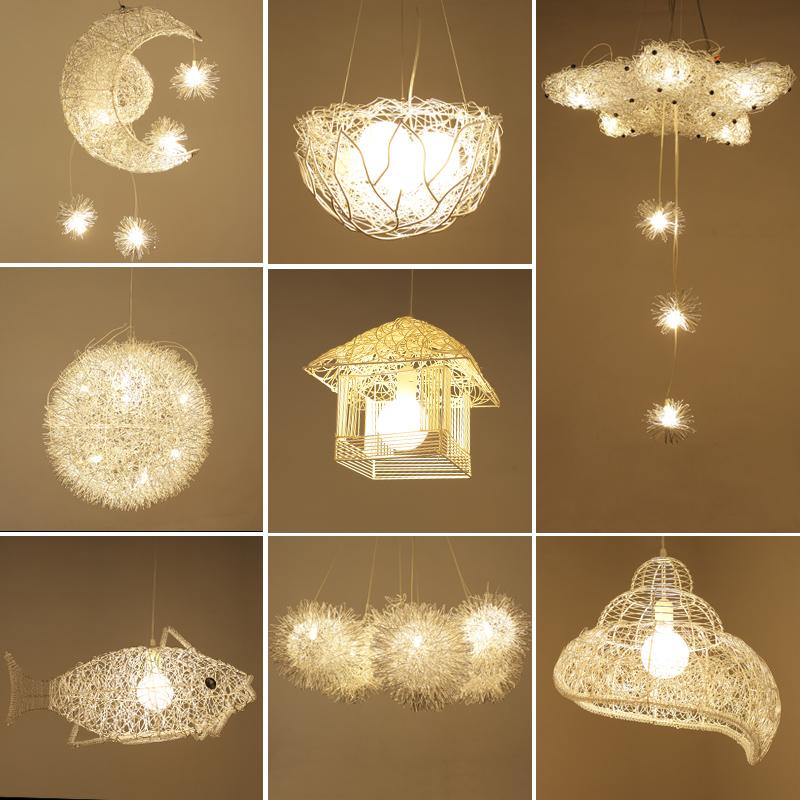 LED吊燈創意個性 卧室燈現代簡約兒童房間燈餐廳吧臺燈陽臺藝術燈