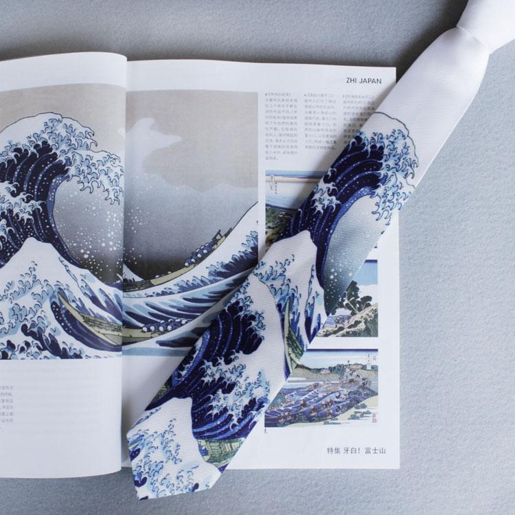 Touch-G 神奈川浪学生风日系领带 男装礼盒个性商务正装6CM韩版