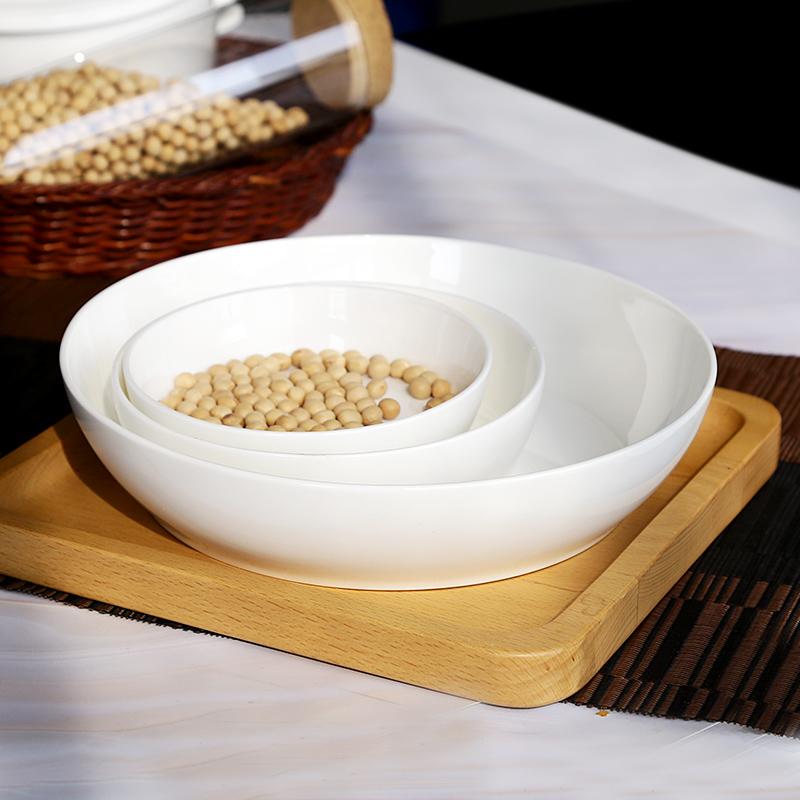 纯白色简约西式骨瓷餐具翻盘蘸料盘水果盘菜盘饭盘干果盘小盘子