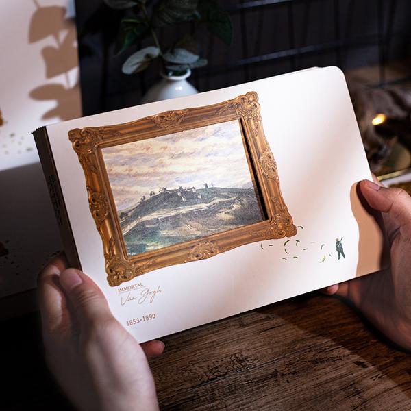 创意梵高会动的油画AR手账本,30元左右文艺女生礼物